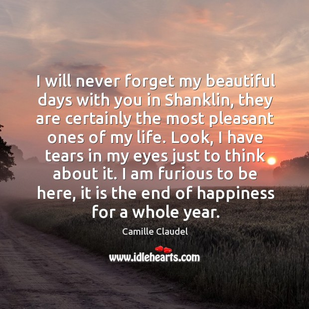 Image, I will never forget my beautiful days with you in shanklin, they are certainly the