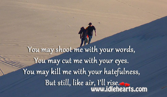 You May Shoot Me With Your Words, You May…