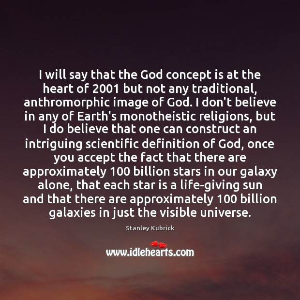 I will say that the God concept is at the heart of 2001 Image