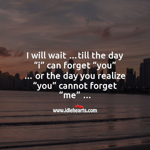 I will wait for you my sweet heart Love Messages Image