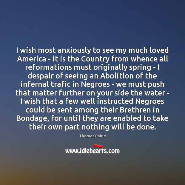 Image, I wish most anxiously to see my much loved America – it