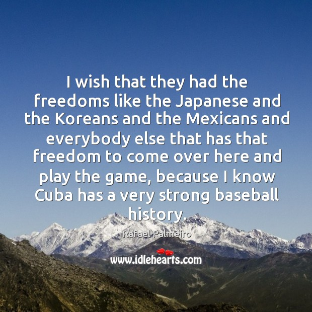 Image, I wish that they had the freedoms like the japanese and the koreans