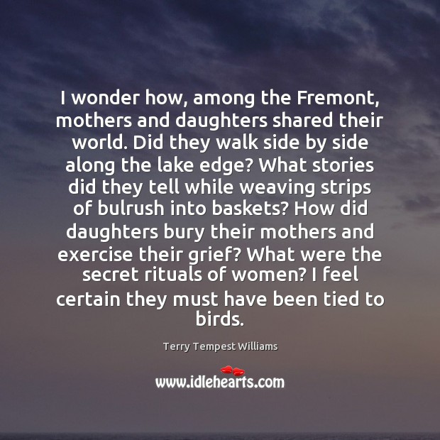 I wonder how, among the Fremont, mothers and daughters shared their world. Image
