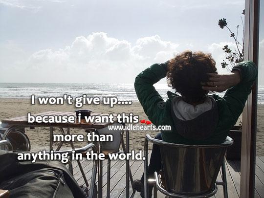 I won't give up. Image
