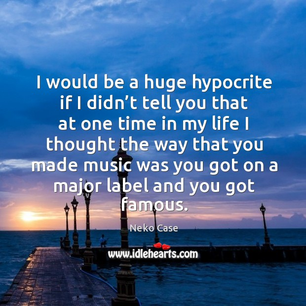 I would be a huge hypocrite if I didn't tell you that at one time in my life I thought the Image