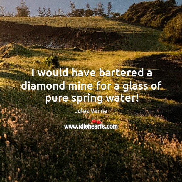I would have bartered a diamond mine for a glass of pure spring water! Image