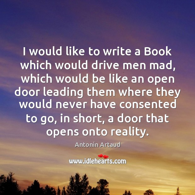 Image, I would like to write a Book which would drive men mad,