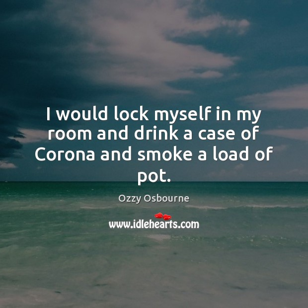 I would lock myself in my room and drink a case of Corona and smoke a load of pot. Image