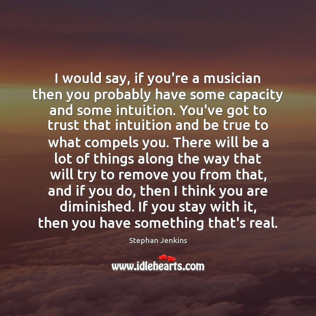 I would say, if you're a musician then you probably have some Stephan Jenkins Picture Quote