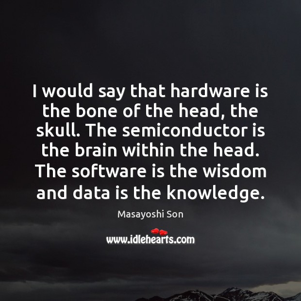 I would say that hardware is the bone of the head, the Data Quotes Image