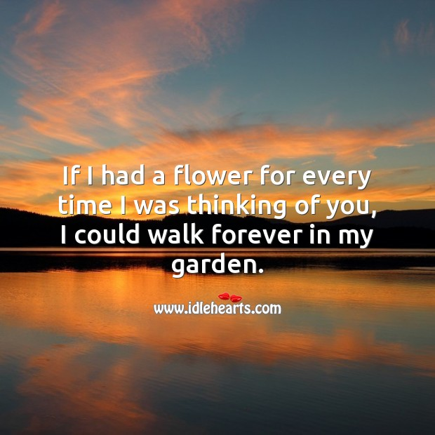 Image, I would walk forever in my garden.