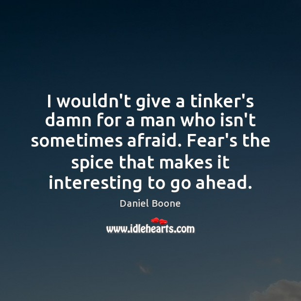 I wouldn't give a tinker's damn for a man who isn't sometimes Daniel Boone Picture Quote