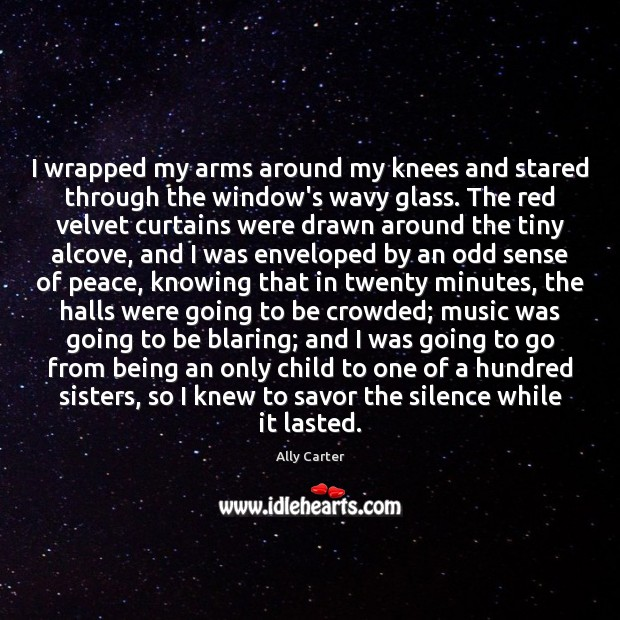 I wrapped my arms around my knees and stared through the window's Image