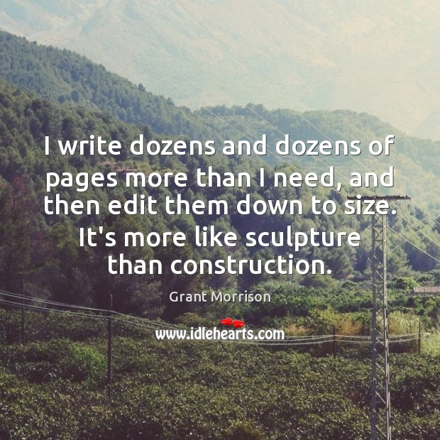 I write dozens and dozens of pages more than I need, and Image