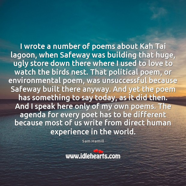 Image, I wrote a number of poems about Kah Tai lagoon, when Safeway