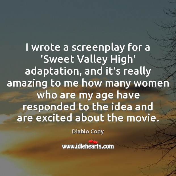 I wrote a screenplay for a 'Sweet Valley High' adaptation, and it's Image