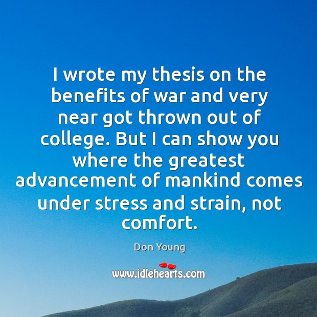 i wrote my thesis on you