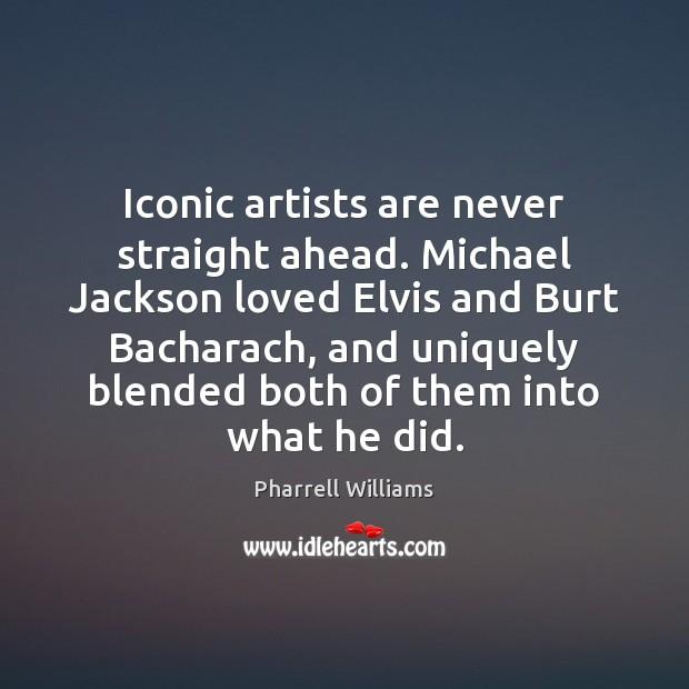 Image, Iconic artists are never straight ahead. Michael Jackson loved Elvis and Burt