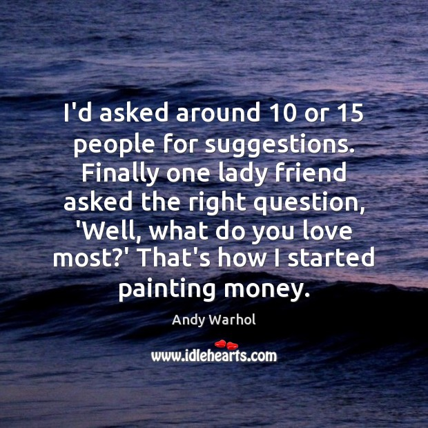 Picture Quote by Andy Warhol