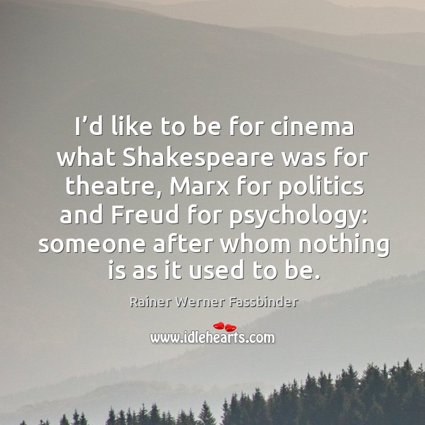 Picture Quote by Rainer Werner Fassbinder