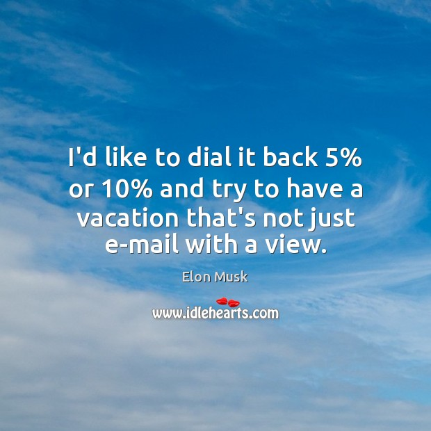 I'd like to dial it back 5% or 10% and try to have a Image