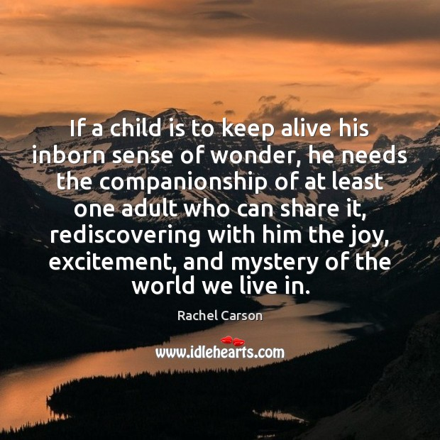 Image, If a child is to keep alive his inborn sense of wonder,