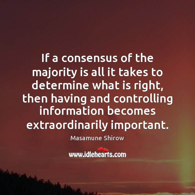 If a consensus of the majority is all it takes to determine Image