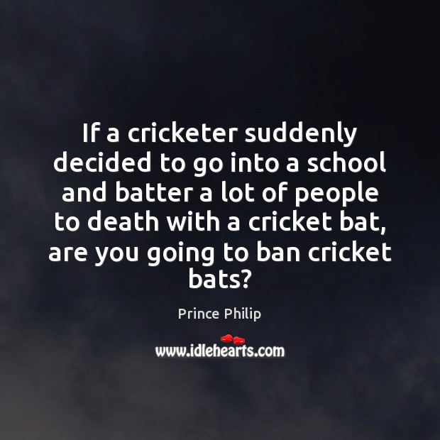 If a cricketer suddenly decided to go into a school and batter Image