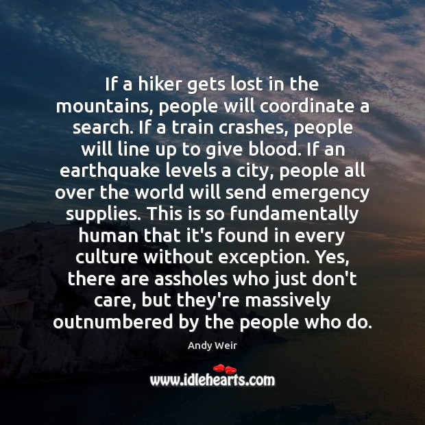 Image, If a hiker gets lost in the mountains, people will coordinate a