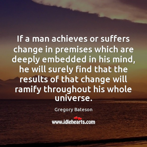 If a man achieves or suffers change in premises which are deeply Image