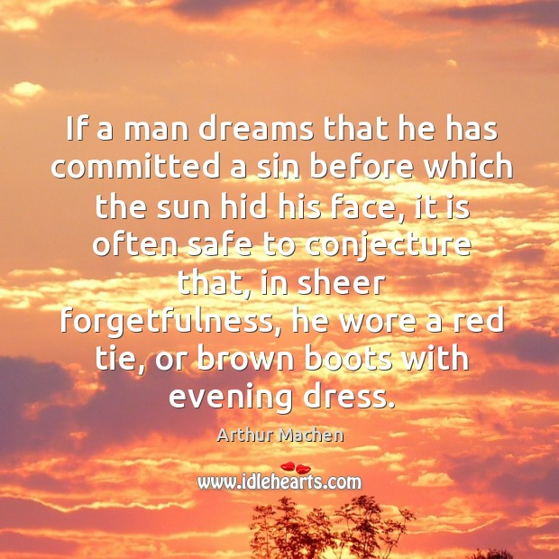 If a man dreams that he has committed a sin before which the sun hid his face Image