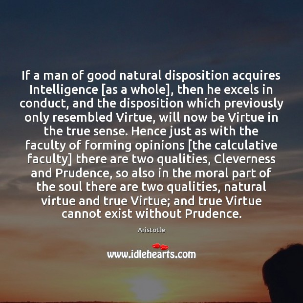 Image, If a man of good natural disposition acquires Intelligence [as a whole],