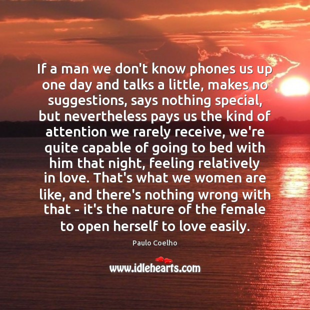 Image, If a man we don't know phones us up one day and