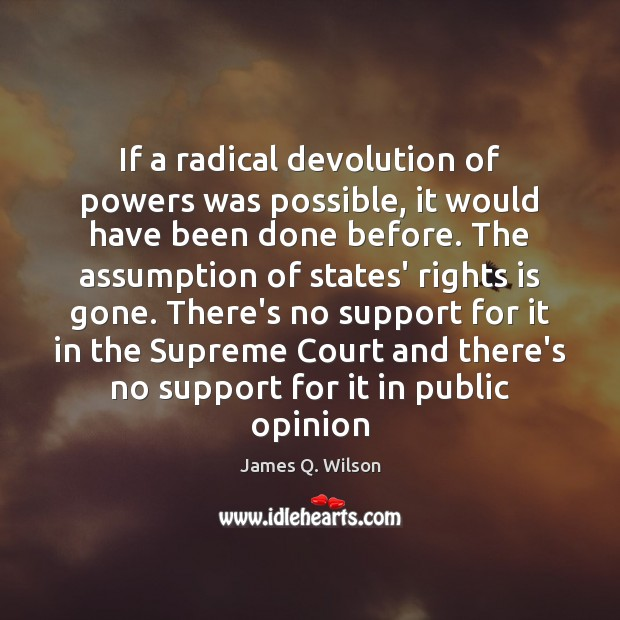 If a radical devolution of powers was possible, it would have been Image