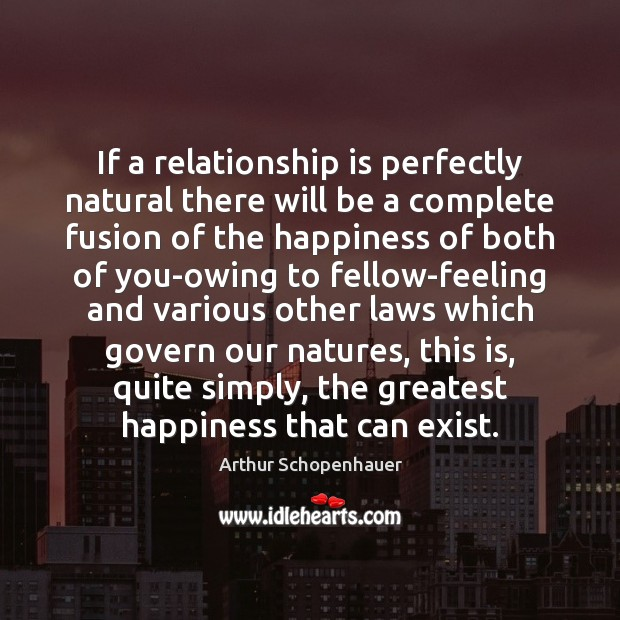 Image, If a relationship is perfectly natural there will be a complete fusion