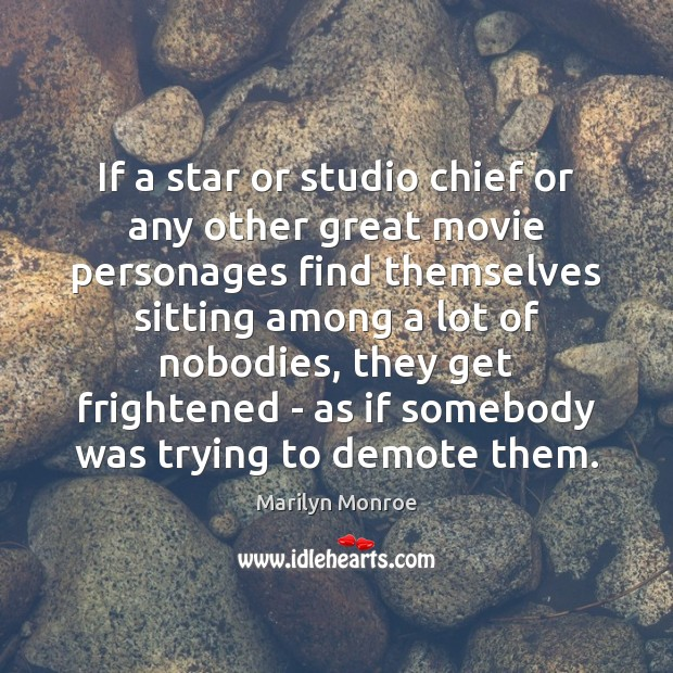If a star or studio chief or any other great movie personages Image