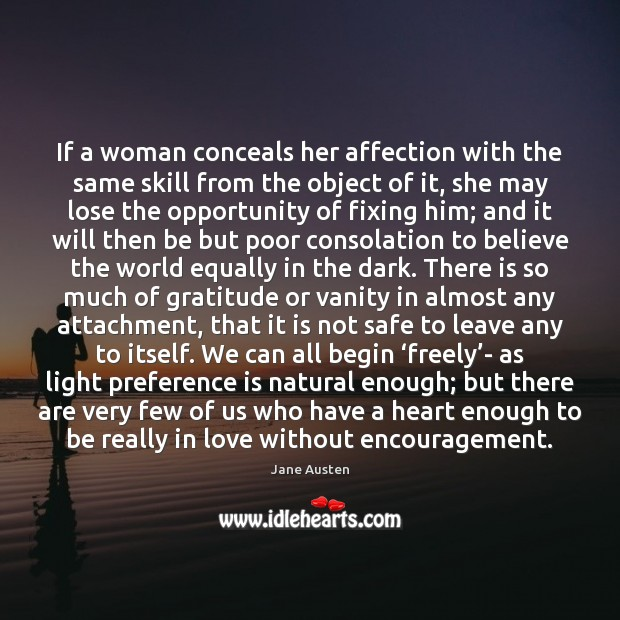 If a woman conceals her affection with the same skill from the Image