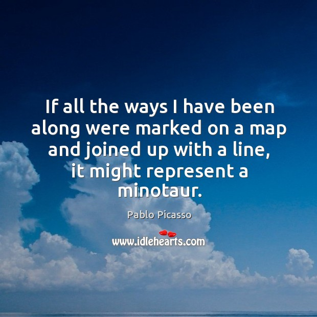 If all the ways I have been along were marked on a map and joined up with a line Image