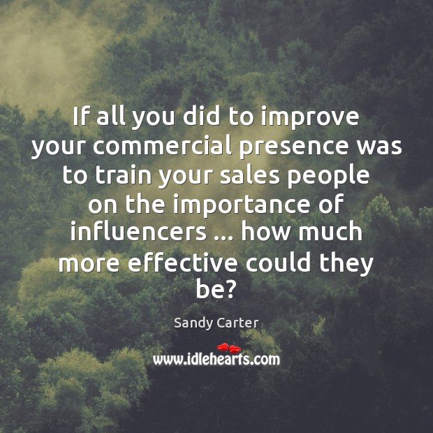 Image, If all you did to improve your commercial presence was to train