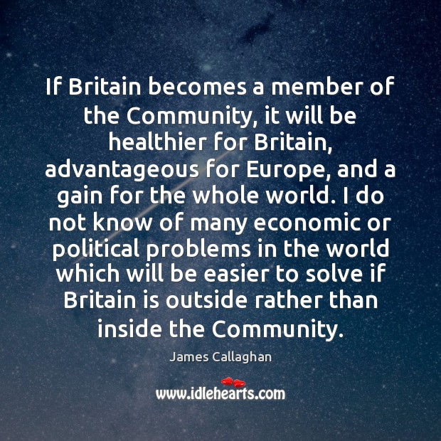 Image, If Britain becomes a member of the Community, it will be healthier