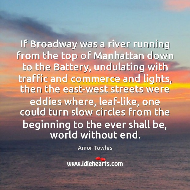 Image, If Broadway was a river running from the top of Manhattan down