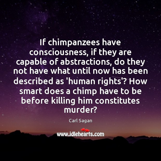 If chimpanzees have consciousness, if they are capable of abstractions, do they Image