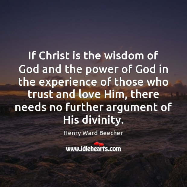 Image, If Christ is the wisdom of God and the power of God