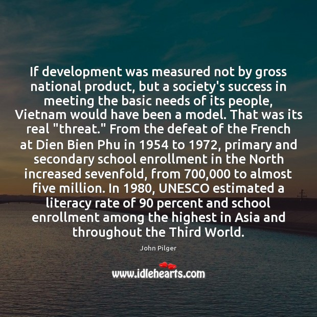 Image, If development was measured not by gross national product, but a society's
