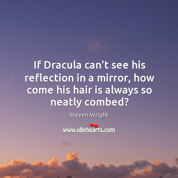 If Dracula can't see his reflection in a mirror, how come his Image