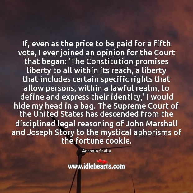 Image, If, even as the price to be paid for a fifth vote,