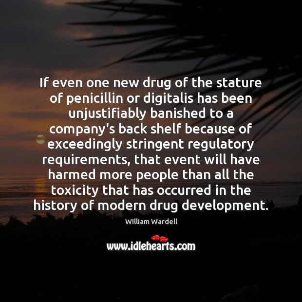 If even one new drug of the stature of penicillin or digitalis Image