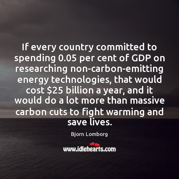 If every country committed to spending 0.05 per cent of GDP on researching Image
