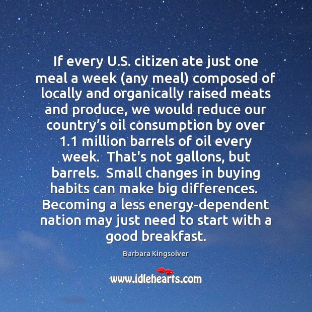 Image, If every U.S. citizen ate just one meal a week (any