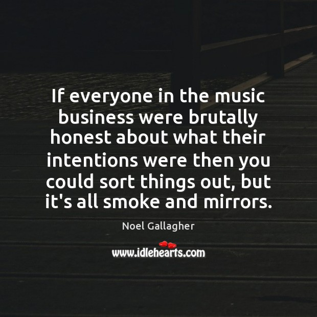 If everyone in the music business were brutally honest about what their Image